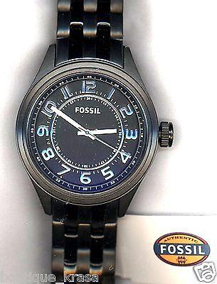 NWT Fossil BQ1041 Asher Black Stainless Steel Bracelet Three-Hand  Men's Watch