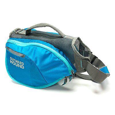 Outward Hound DayPak Dog Backpack Adjustable Saddlebag MEDIUM BLUE