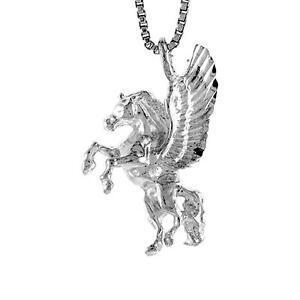 Details zu Sterling Silver Pegasus Pendant Charm, 18