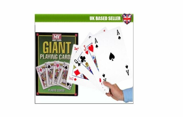 Giant Jumbo A3 Big Playing Cards Deck Outdoor Garden Family Party BBQ Game