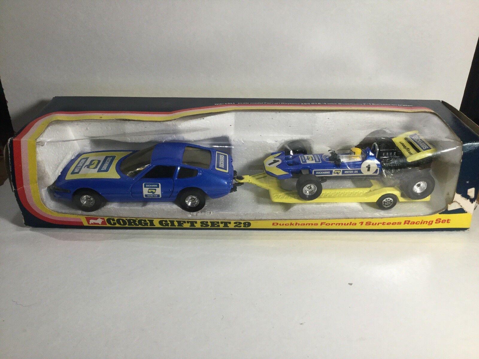 Vintage CORGI Gift Set GS29 Formule 1 F1 Set dans sa boîte d'origine