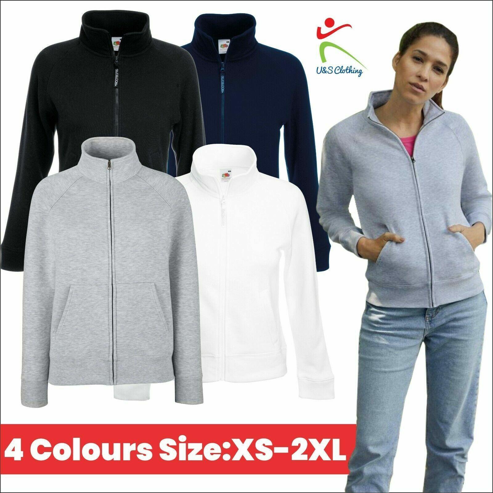 Fruit of the Loom SS310 Womens Premium Jacket Outdoor Casual Full Zip Sweatshirt