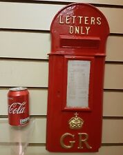 "Letter Post Lamp Box George 5th V ""Hovis""  Cast front 2nd to Red Telephone box"