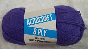Acrocraft-8-Ply-Knitting-Yarn-1009-Purple-100g-Acrylic-200-metres
