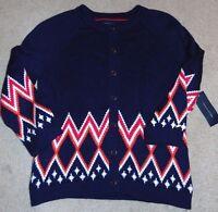 Women's Tommy Hilfiger Pea Coat Cardigan Sweater Size L Nice $90 Fs:)