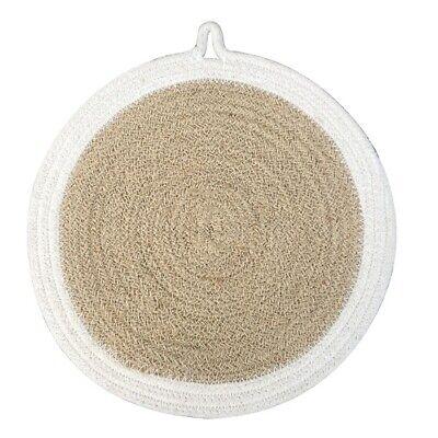 Intelligente Iuta E Cotone Intrecciato Round Coaster 25 Cm Naturale E Beige By Home Interiors S..-mostra Il Titolo Originale