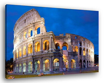 Quadro Moderno 200 x 90 cm Stampa su Tela XXL Colosseo Roma Arredamento #051