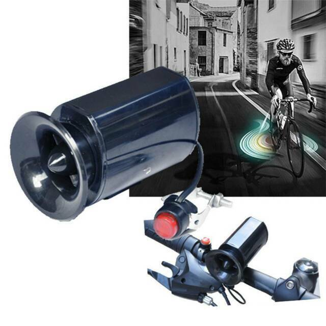 6 Bike Bell Loud Sounds Electronic Bicycle Horn Black Speaker Ultra Siren Alarm