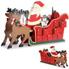 Calendrier de l'avent traîneau tiroirs Noël rennes fêtes remplissage individuel
