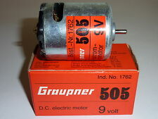 GRAUPNER 505 1762 GLEICHSTROM-ELEKTROMOTOR DIRECT CURRENT ELECTRIC MOTOR 9V NEU