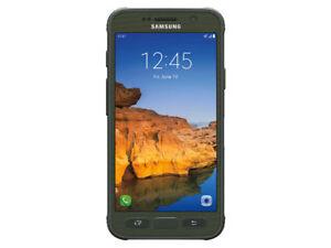 Samsung-Galaxy-S7-Active-SM-G891A-32-Go-Camo-Vert-Desimlocke-GSM-9-10-Neuf