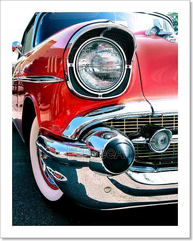 Old Classic Chevy Car Art Print Home Decor Wall Art Poster - C
