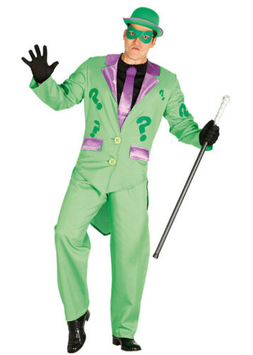Mens The Riddler Style Green Costume DOES NOT INCLUDE HAT