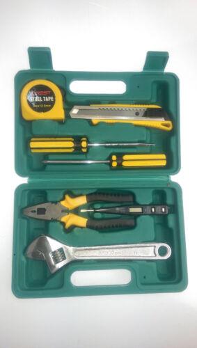 Crest 7 ou 11 pcs outil kit tournevis marteau clé outil diy set case