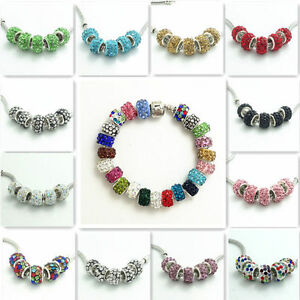 20pcs-Gorgeous-Czech-Crystal-Round-Bead-fit-European-Charm-Bracelet-Chain