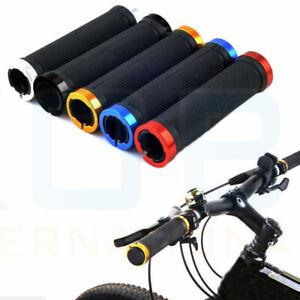DOUBLE-LOCK-ON-LOCKING-BMX-MTB-MOUNTAIN-BIKE-CYCLE-BICYCLE-HANDLE-BAR-GRIPS-SET