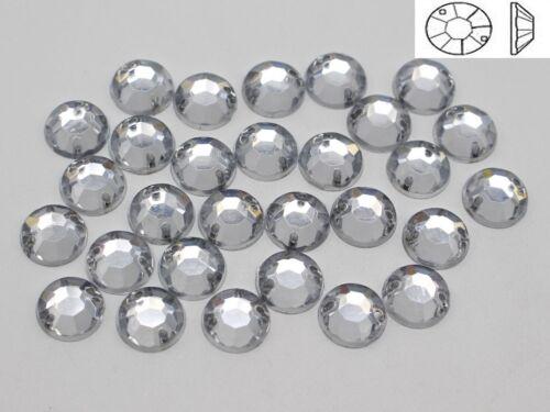 500 Clear Flatback Acrylic Sewing Crystal Round Rhinestone Gems 6mm Sew on beads