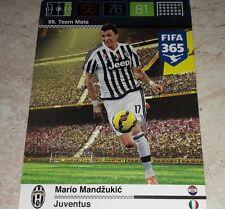 CARD ADRENALYN FIFA 365 CALCIATORI PANINI JUVENTUS MANDZUKIC CALCIO