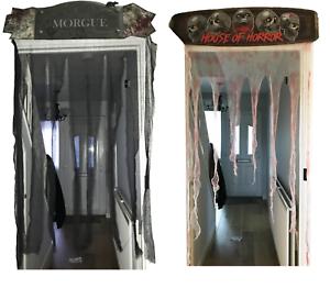 Halloween-Door-Topper-Header-Bloody-Bandage-Black-Curtain-Decoration-90-x-150cm