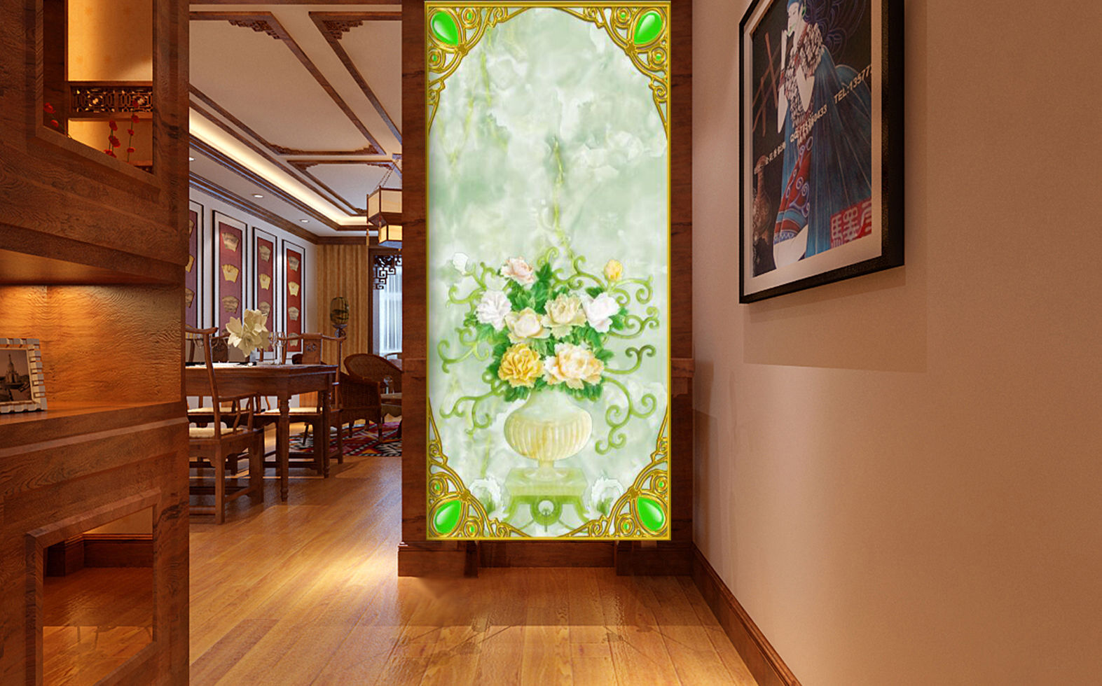 3D Vase, flowers 223 Wall Paper Wall Print Decal Wall Deco Indoor Wall Murals