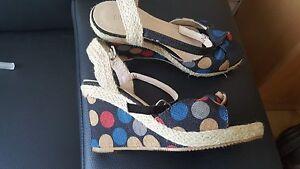 Plateau Sandaletten Sommer Schuhe bunt