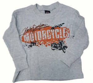 Details about Harley-Davidson Kids Boys Long Sleeve Thermal T-Shirt -  Motorcycles