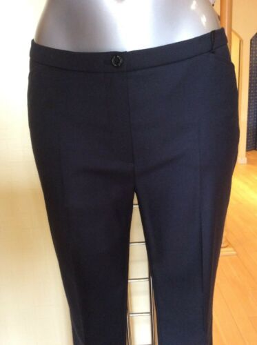 138 Pantaloni 12 Ora Navy Rrp 62 Bwwt taglia 'gina' Point Yellow Michele wtqzXSq