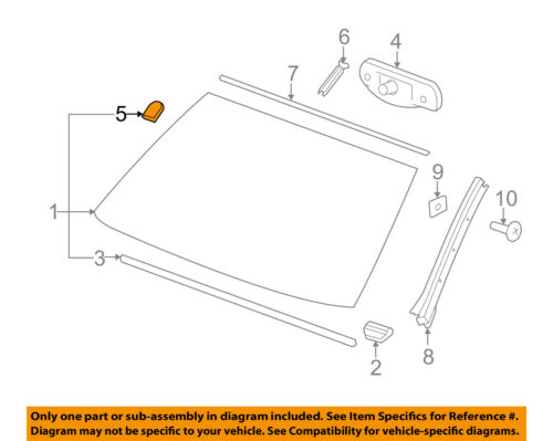GM OEM Windshield-Mirror Inside Bracket 25653132