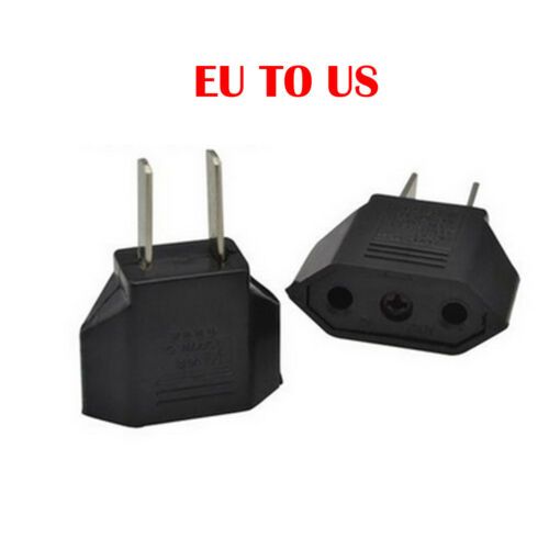 5PCS EU Euro Europe to US USA AC Power Plug Converter Travel Adapter Charger DE