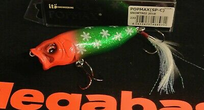 """WOW Megabass Pop Max /""""SNOWTREE 2018/"""" Limited SP-C Color NEW IN BOX FREE SHIP"""