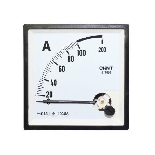 Einbauinstrument 100A Amperemeter 96x96mm 100A//5A Strom Ampere Meter Meßgerät