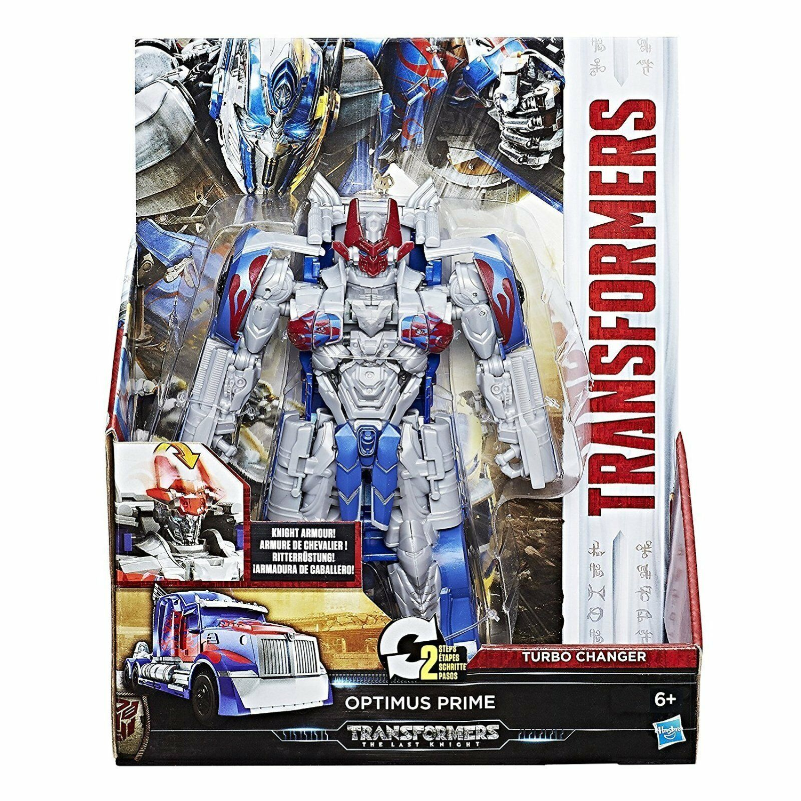 Transformers The Last Knight-Knight Armour Turbo Changer Optimus Prime Brand New