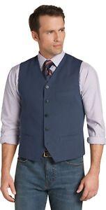 JOS-A-BANK-Reserve-Collection-Suit-Vest-Tailored-Fit-Blue-Birdseye-L-42R-NWT