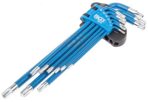 Innen Torx Schlüssel Satz 9-tg mit Loch Werkzeug Schraubendreher Winkelschlüssel