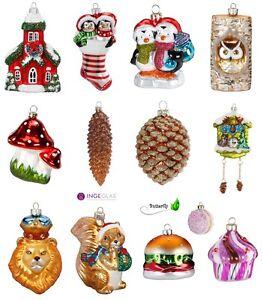 weihnachtskugeln figuren glas christbaumkugeln christbaumschmuck baum kugeln neu ebay. Black Bedroom Furniture Sets. Home Design Ideas
