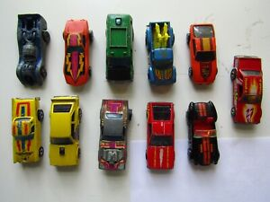 LOT-OF-11-VINTAGE-MATTEL-HOT-WHEELS-CARS-CORVETTE-MUSTANGS-VAN-PICKUP-RARE