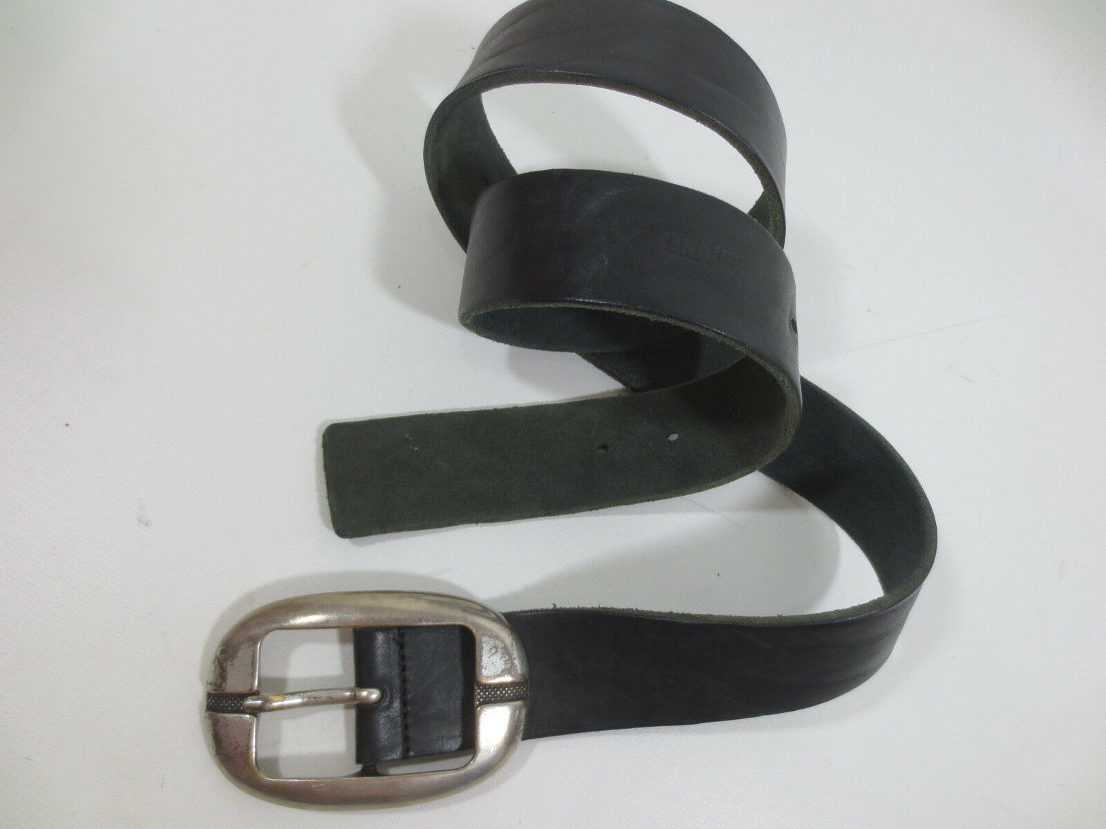 4 cm Gürtel Ledergürtel CINQUE 85 90 95 Leder schwarz vintage /X9