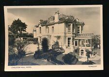 Devon TORQUAY Chelston Hall Hotel advert c1920/40s? RP PPC