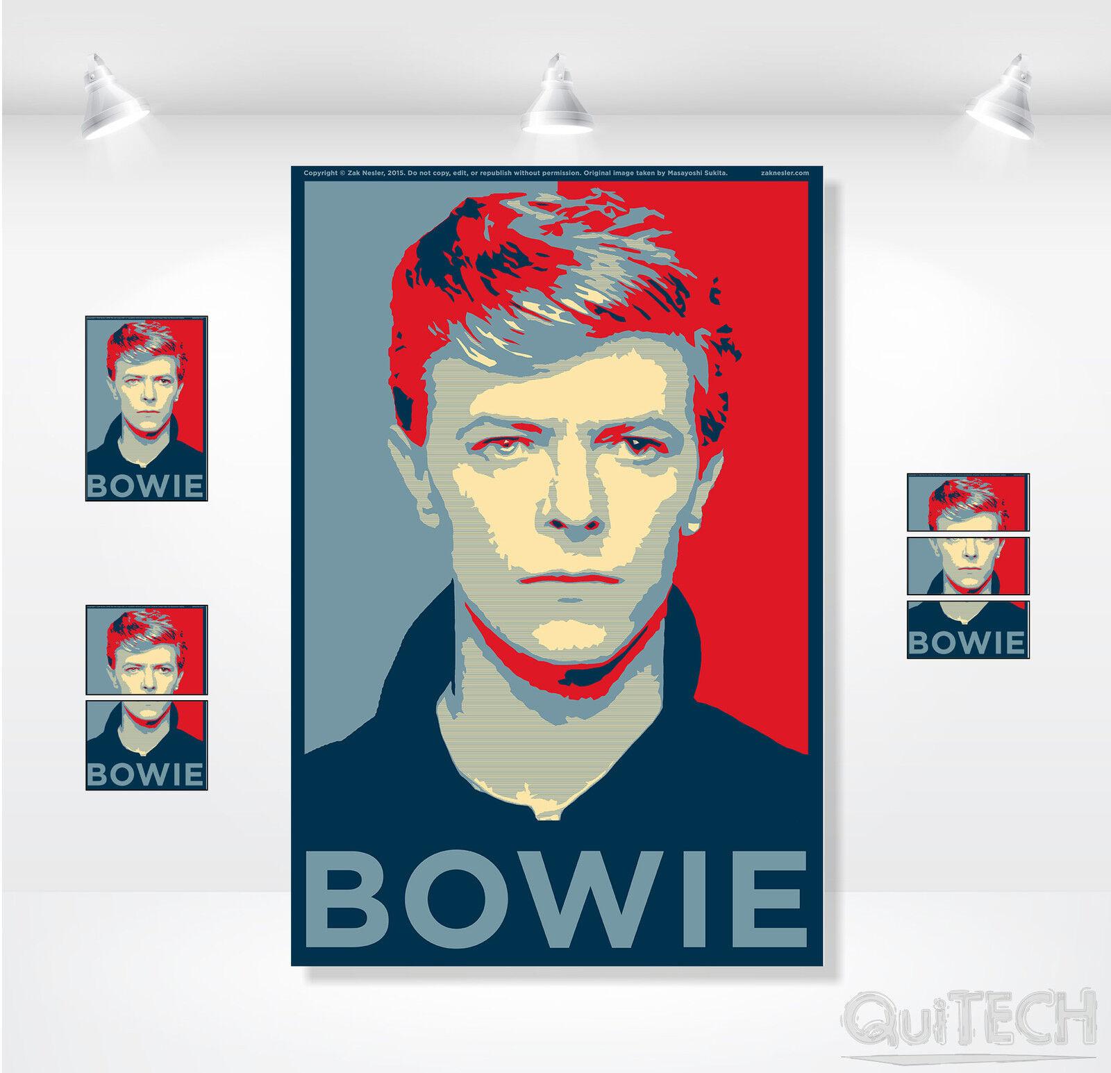 David Bowie - 16 - Quadro stampa su Tela Pelle Canvas Dipinto Arte Moderna