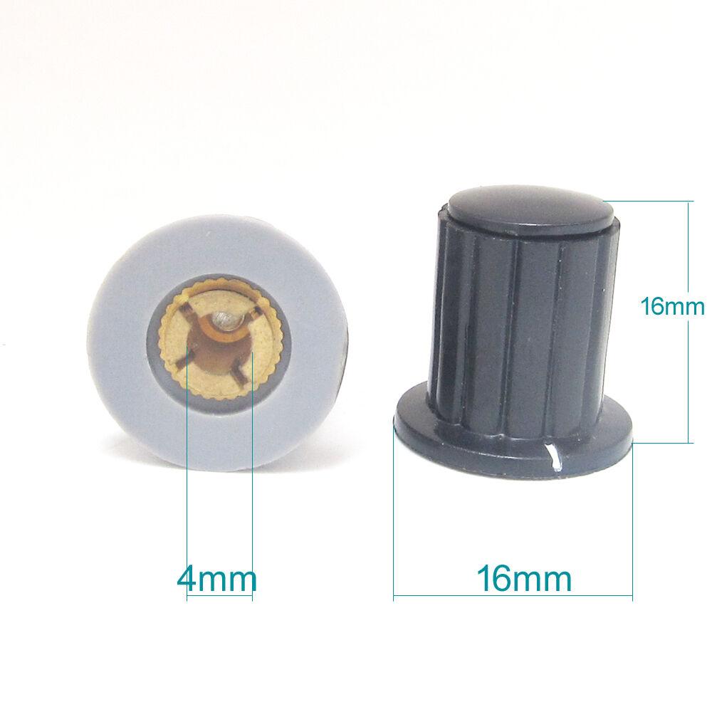100x 4 4 4 mm amplificador de Altavoz KYP16-4.0 Eje Perilla de control de volumen con indicador de línea  compras online de deportes