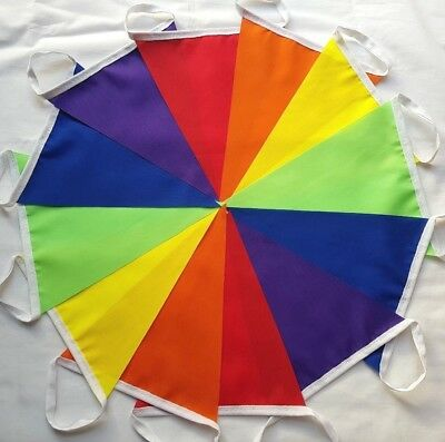 Fabric Bunting Rainbow Gay Pride LGBT Festival Glamping Single Ply Banner