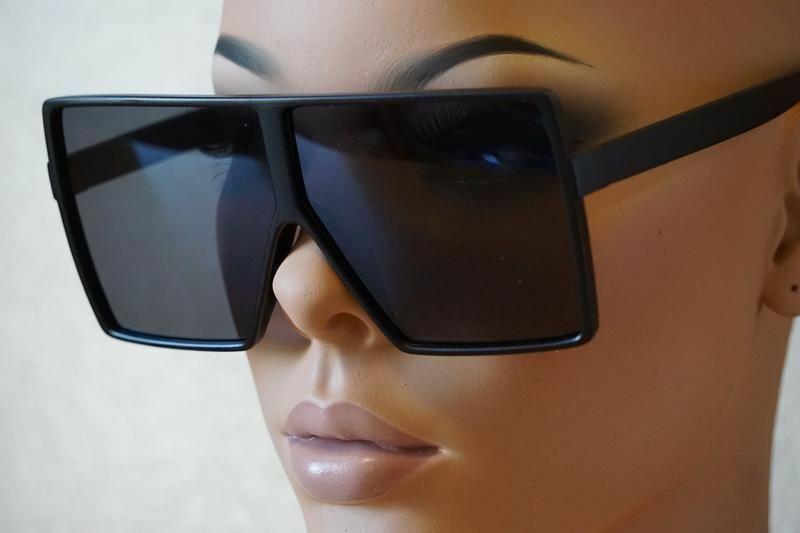 Square Fashion Oversize Flat Top XXL énorme Fashion Diva Lauren Betty Lunettes de soleil