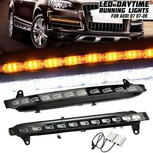22-LED-Daytime-Running-Lights-DRL-Fog-Light-Turn-Signal-For-2007-2009-Audi-Q7