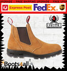 Redback Work Boots USBBA Easy Escape Steel Toe BANANA Elastic Sided Slip On