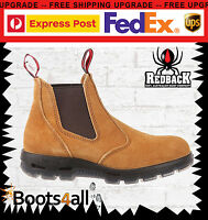 Redback Work Boots Usbba Easy Escape Steel Toe Banana Slip On Uk Size
