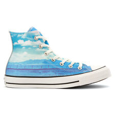 30fa7d9d1cfd Converse Chuck Taylor All Star CTAS HI Spray Paint Blue Motel Pool 551007C
