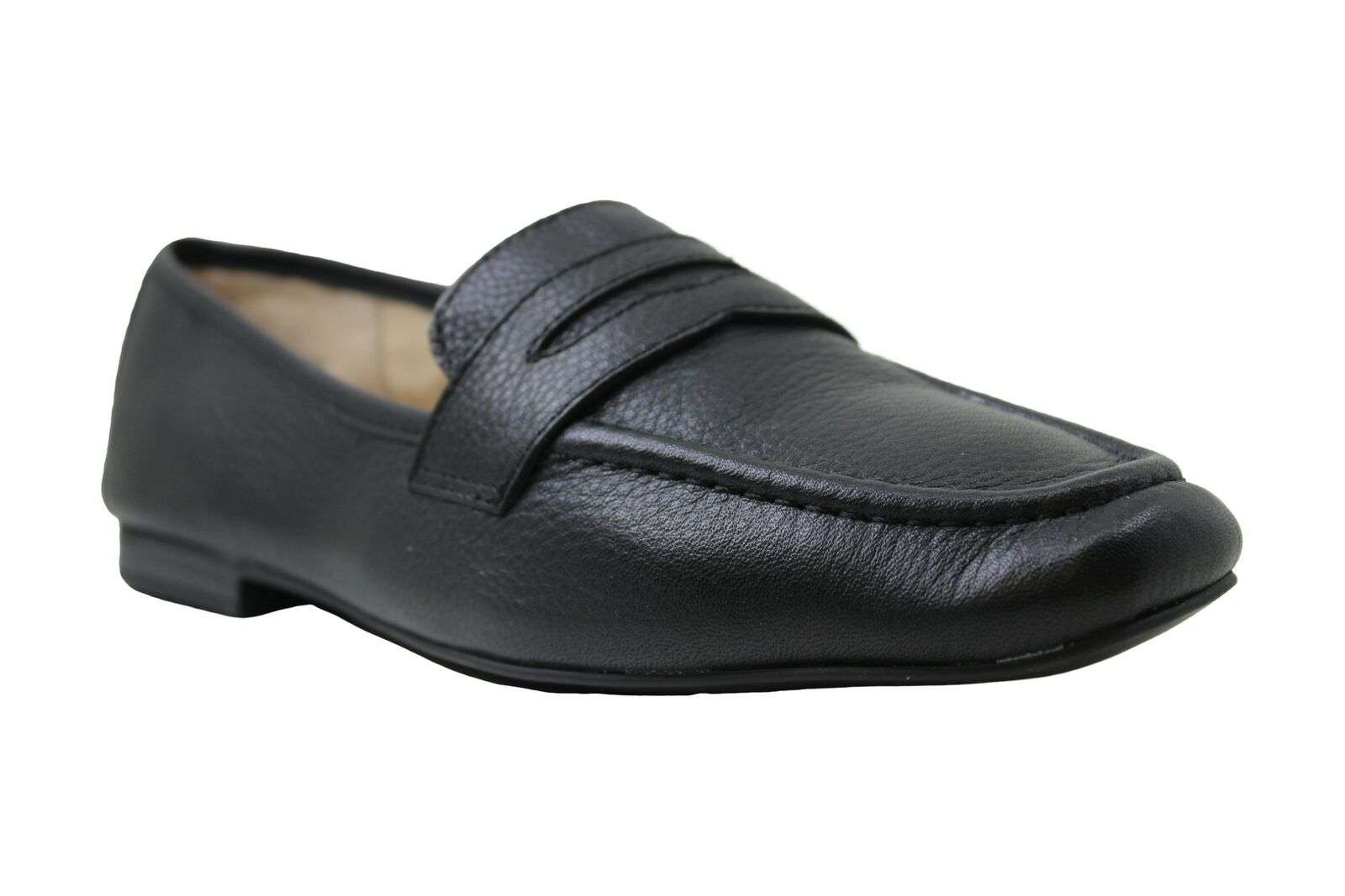American Rag Womens cammie Leather Closed Toe Loafers, Black Leather, Size 7.0