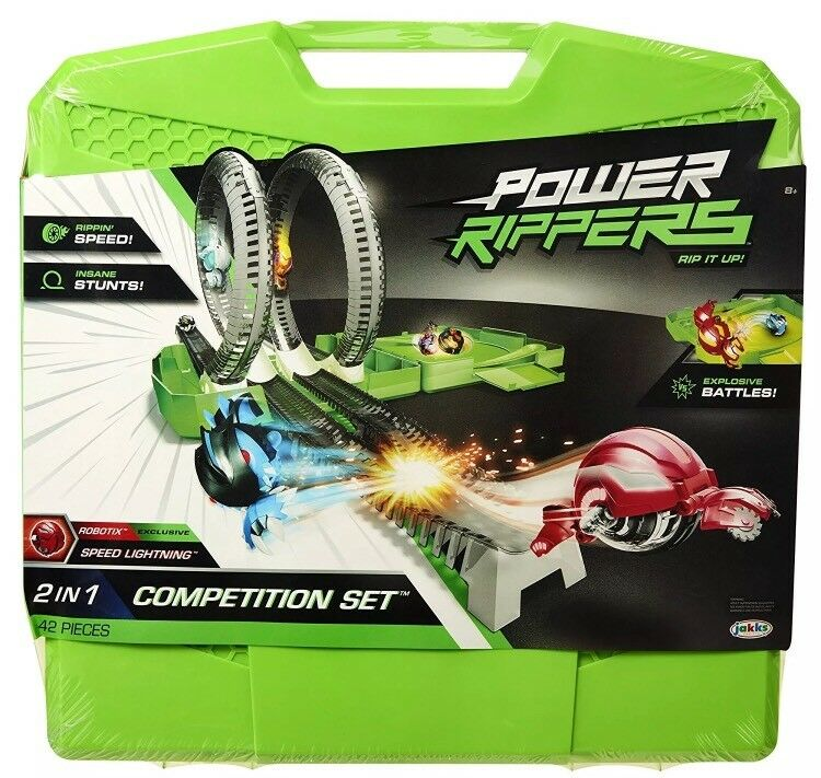 New Power Rippers  2 in 1 Competition Set Battle Race Track Build Set Kids Toy