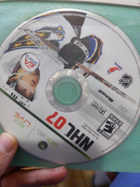 NHL 07 (Microsoft Xbox 360, 2006) Disc Only