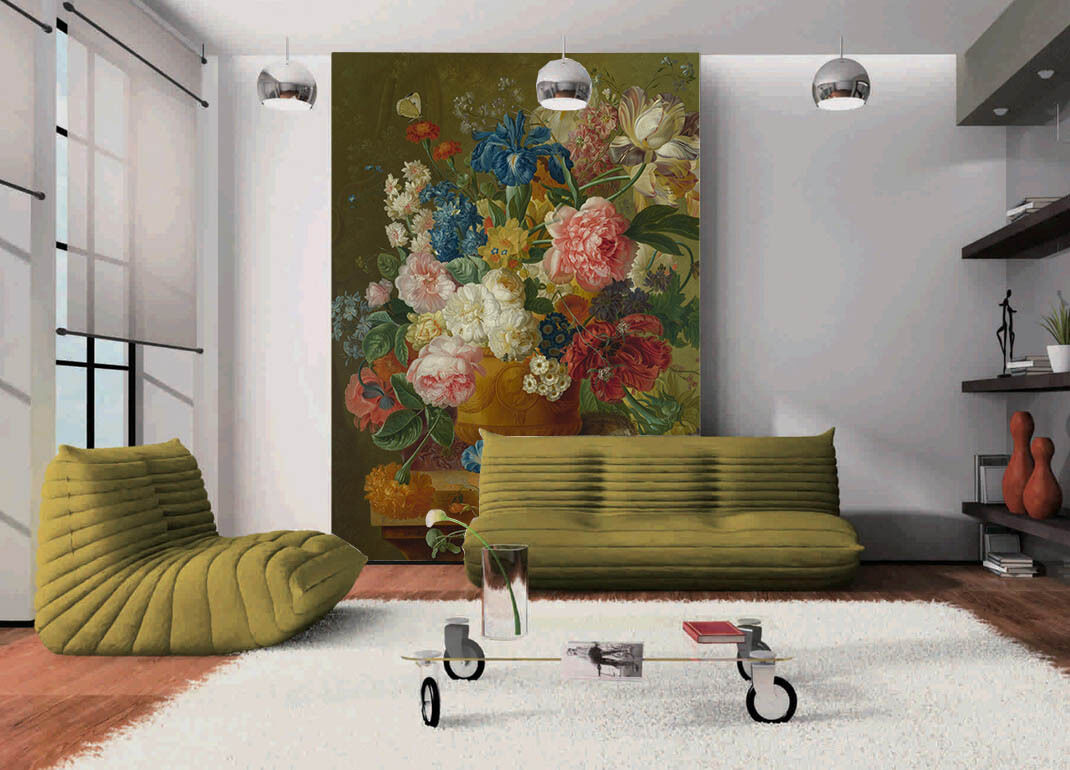 3D Table Flowers 48 Wall Paper Wall Print Decal Wall Deco Indoor AJ Wall Paper
